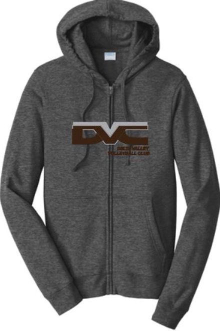 Stealth Zipper Hoodie with  Silver and Black DVVC Icon