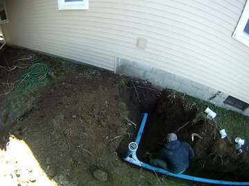 Sewer Lateral near house in Fairport, NY