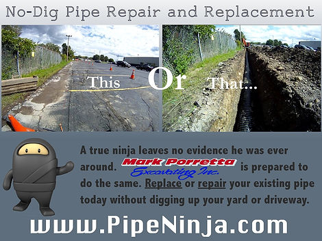 pipe ninja trench-less flyer