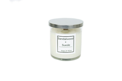 Sandalwood + Suede Soy and Olive Oil Candle - Classic Collection