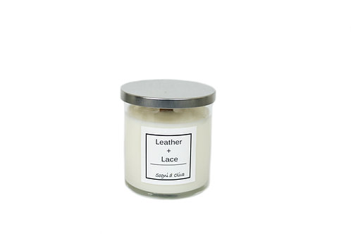 Leather + Lace Soy and Olive Oil Candle - Classic Collection