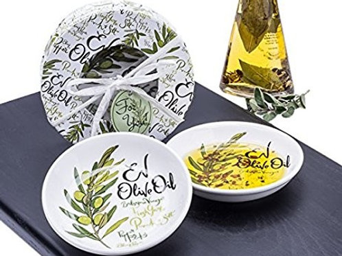 OLIVE OIL  DISHES (Set of 2)