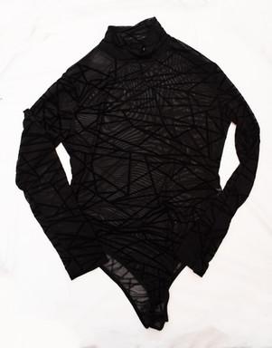 black geometric long sleeve