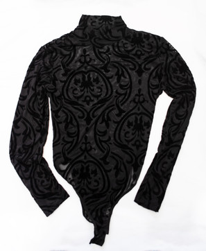floral sheer black long sleeve