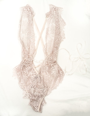 light pink lace one piece