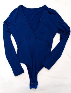 Blue long sleeve one piece