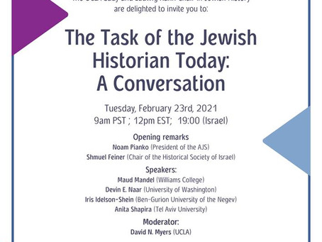 The Task of the Jewish Historian Today: A Conversation