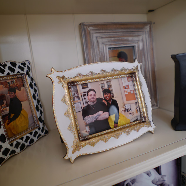 I love to decorate with beautiful picture frames.