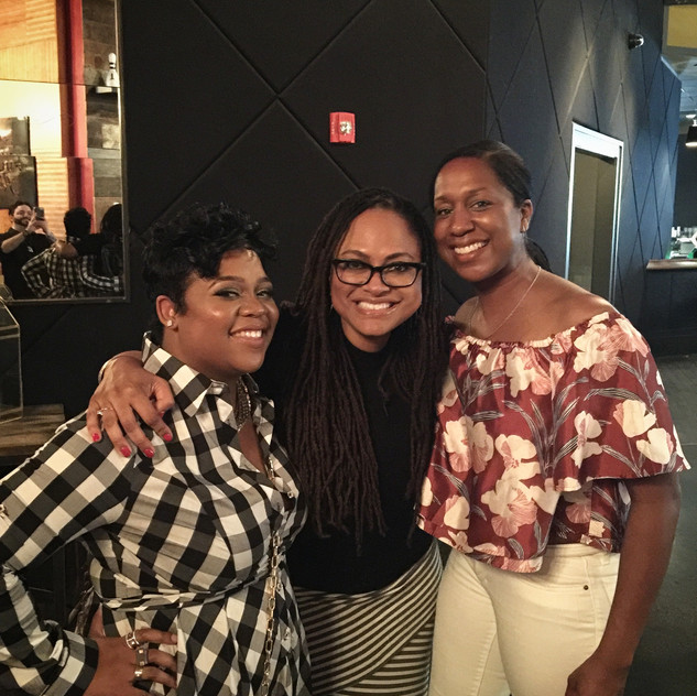 Myself, Ms. Ava DuVernay herself (aka My Boss) and my Senior Coordinator for Season 1, Sommer Oliver.