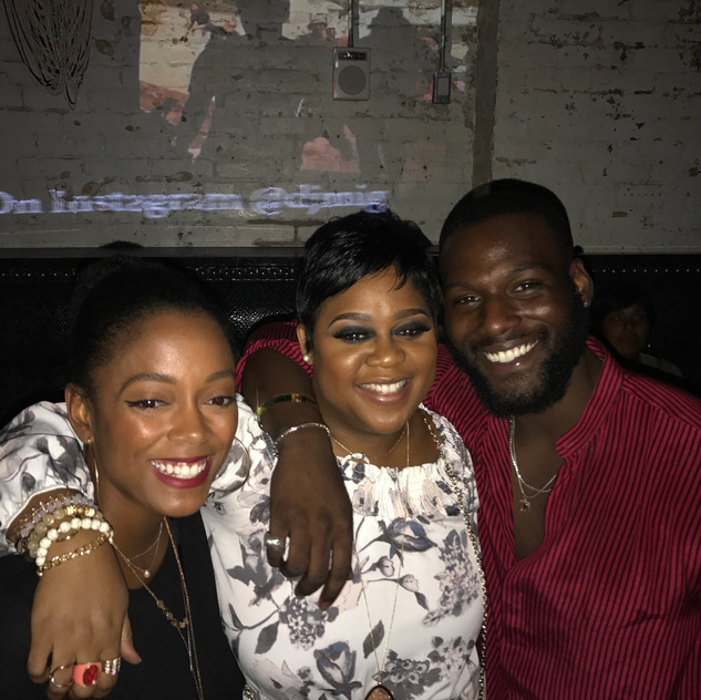 One of my favorite photos from Season 2 Wrap Party.  L to R - Lauren Boudreaux, Tachic Hickman-Piazza, and Kofi Siriboe aka Mr. Ralph Angel himself.