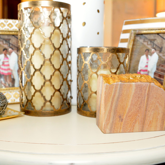 Gold Candle Holders are from Pier 1 Imports.