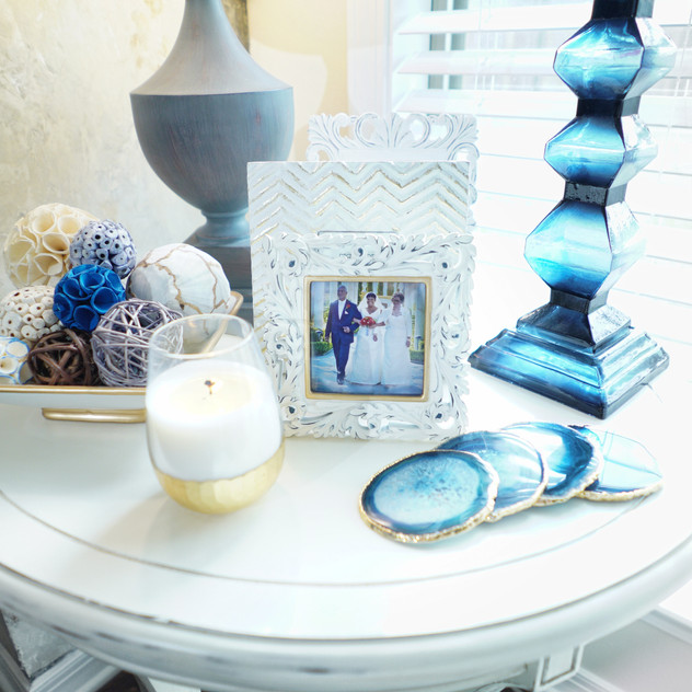 Blue Candle Holder is from Pier 1.