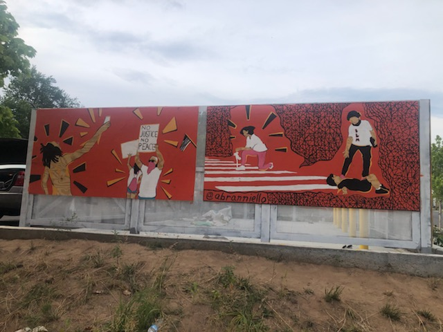 BLM Mural, section painted by artist Alex Ranniello