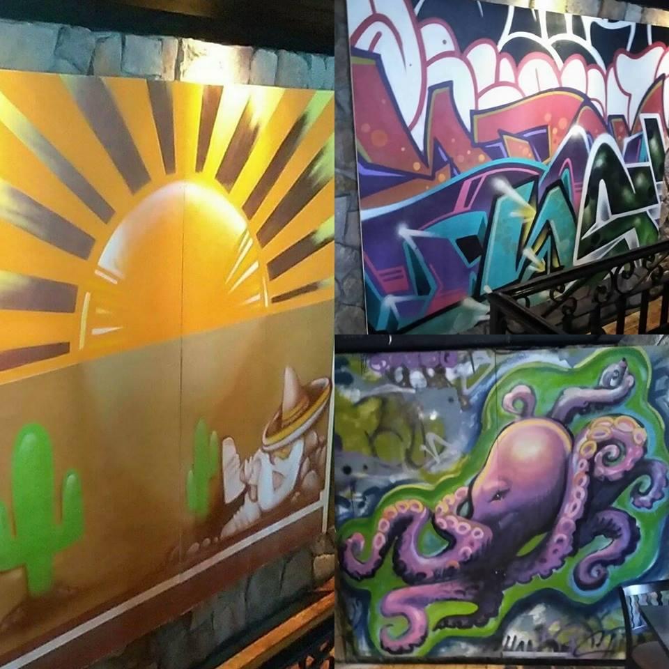 Commercial Murals:Chango Rosa Murals