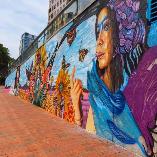 Cirque du Soleil Luzia Hartford Mural