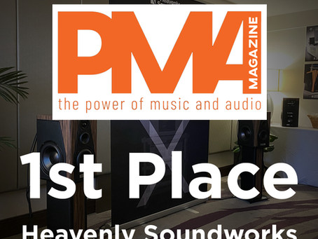 PMA Magazine selects Heavenly Soundworks for Best Room at T.H.E. Show 2021