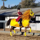 Keara (Ring Master) and Gremmie (Lion) @ Fall Fun Horse Show 2020