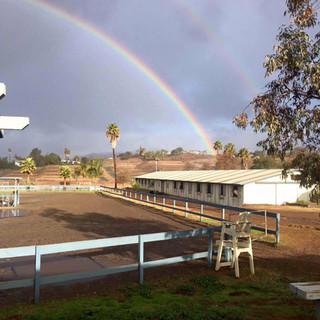 North County Rainbow over Main Barn