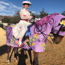 Lindsay (Mary Poppins) and UVM Odyssey GCH (carousel horse) @ Fall Fun Horse Show 2020