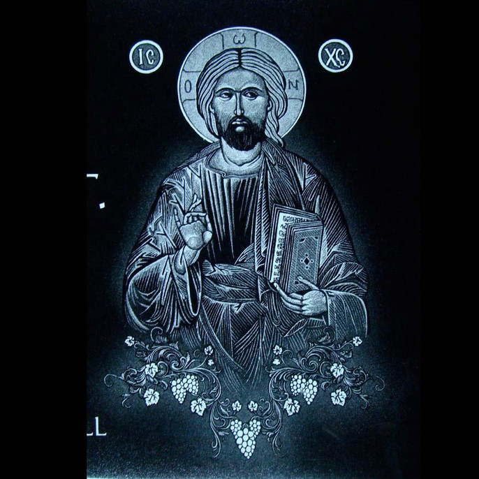 Orthodox Christ on black granite.jpg