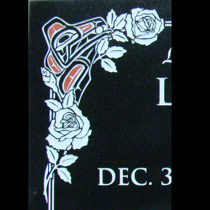 Formline Raven and roses border detail