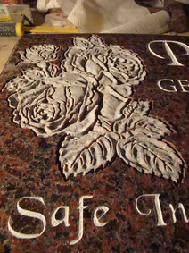 Hand-sculpted roses detail