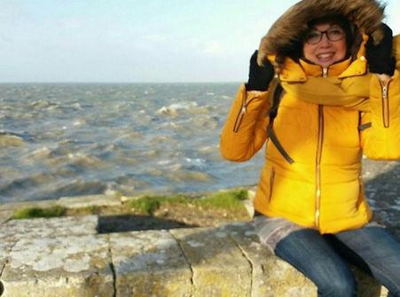Anne Hamel Labbé vous souhaite une belle année depuis le bord de mer - Nozay - Loire Atlantique
