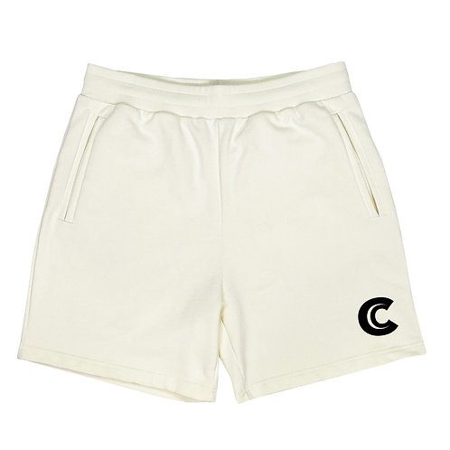 RELAXED SHORT IN COTTON  WITH CARLYLES LOGO