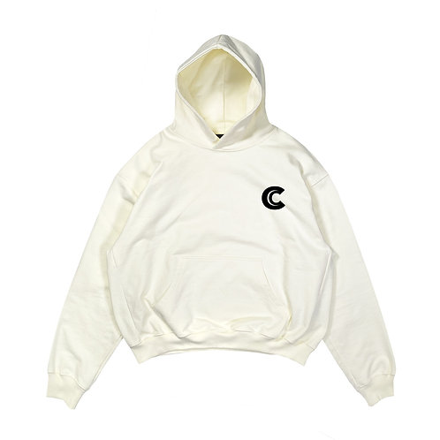 OVERSIZED HOODIE IN COTTON WITH CARLYLES LOGO