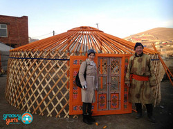 Yurts (or gers) in Mongolia