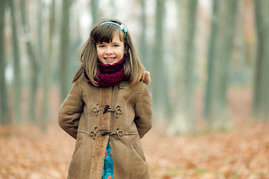 girl coat and scarf