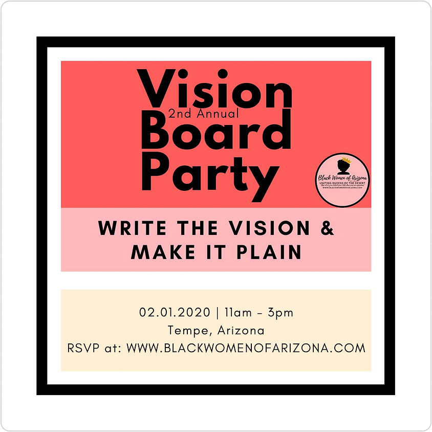 BWAZ 2nd Annual Vision Board Party 2020