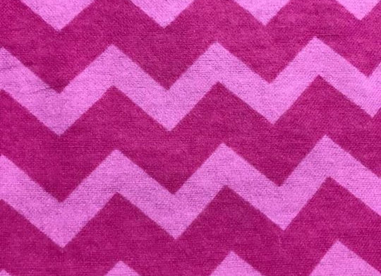 Pink zigzag (snuggle flannel)