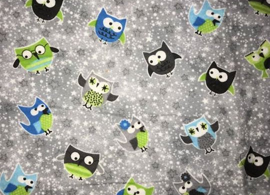 Gray Owls  (snuggle flannel)