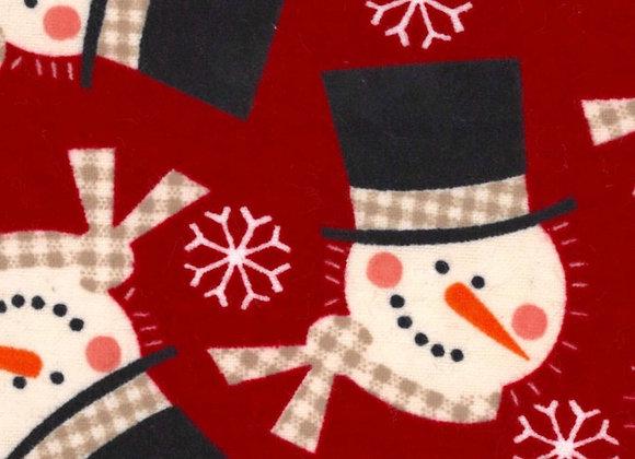 Red snowmen (snuggle flannel)
