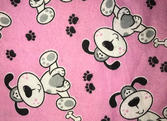 Pink dogs (snuggle flannel)