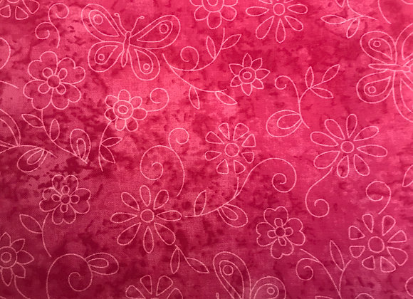 Pink sketch bf & flowers