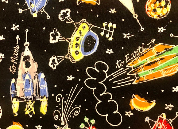 Chalk spaceships (snuggle flannel)