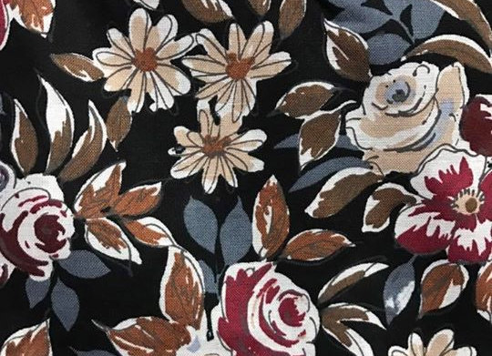 Black and tan floral