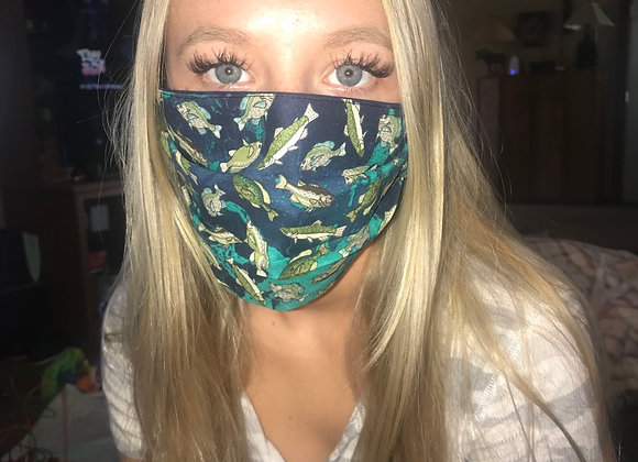 Teal fish mask 🐠