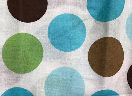 Brown, Blue, Green Lg Dots