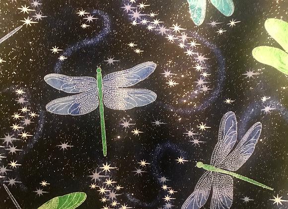 Sparkle navy dragonfly