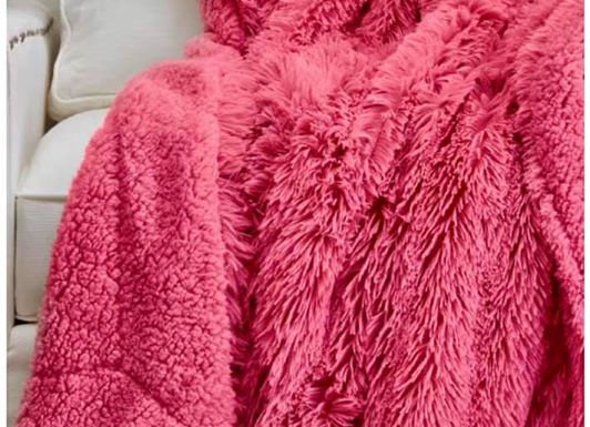 Pink Hip-poncho