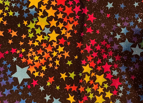 Rainbow sparkle stars
