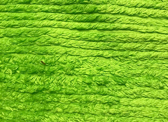 Lime green Chenille Terry