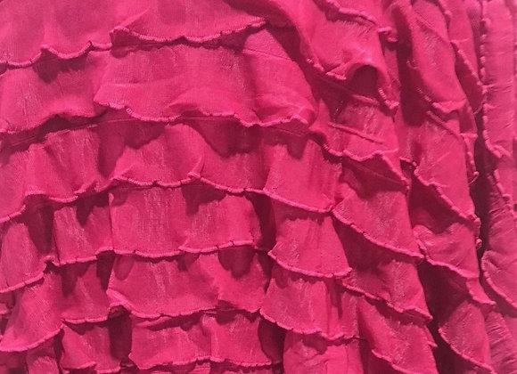 Hot pink ruffle knit