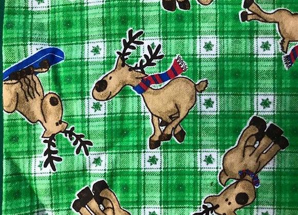 Reindeer, snuggle flannel