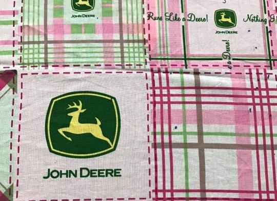 Pink plaid John Deere