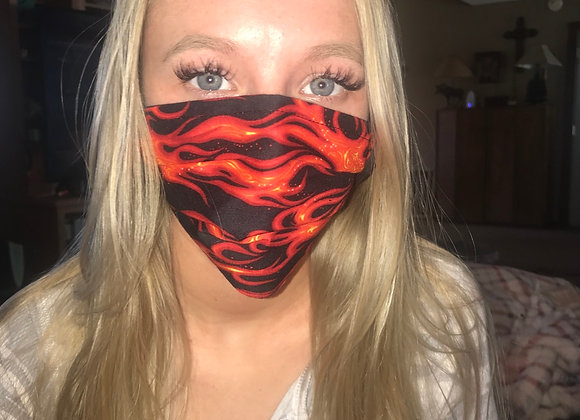 Fire flames mask🔥