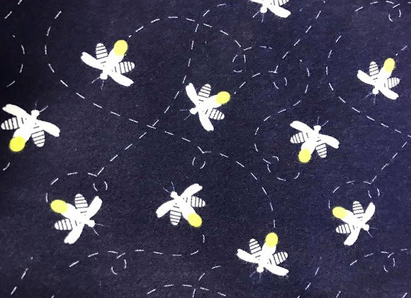 Navy dragonflies (Snuggle Flannel)